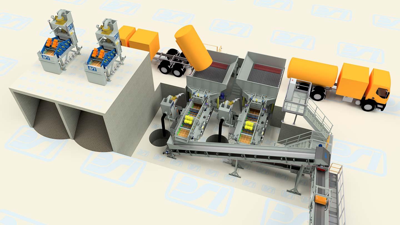Soil washing impianto 3D