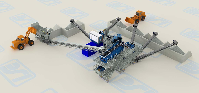 B.S.I.'s Road swiping materials treatment plant 3D